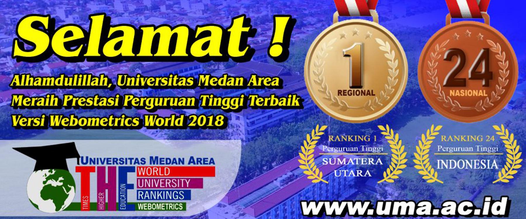 UMA Peringkat 1 Perguruan Tinggi Terbaik Di Sumatera Utara