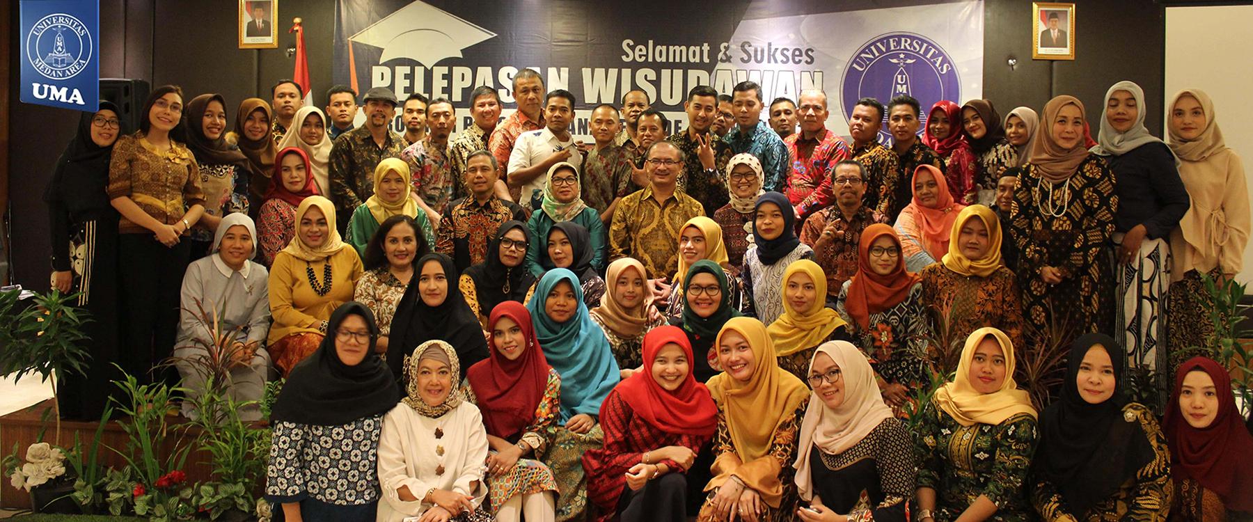 Pelepasan Wisudawan Program Magister Universitas Medan Area Periode II Tahun 2018