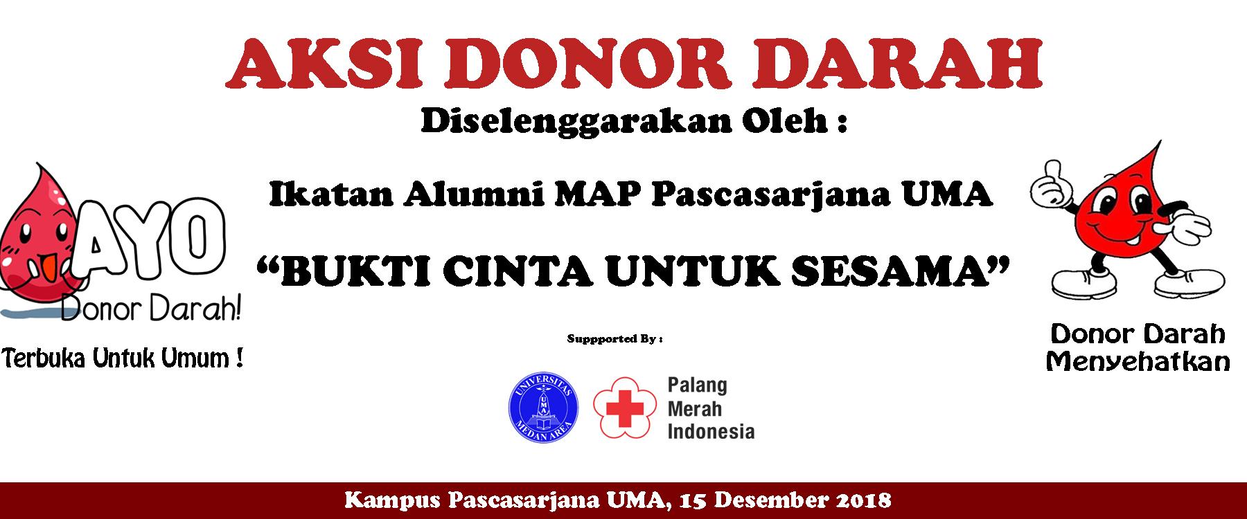 Aksi Donor Darah Dengan Ikatan Alumni MAP