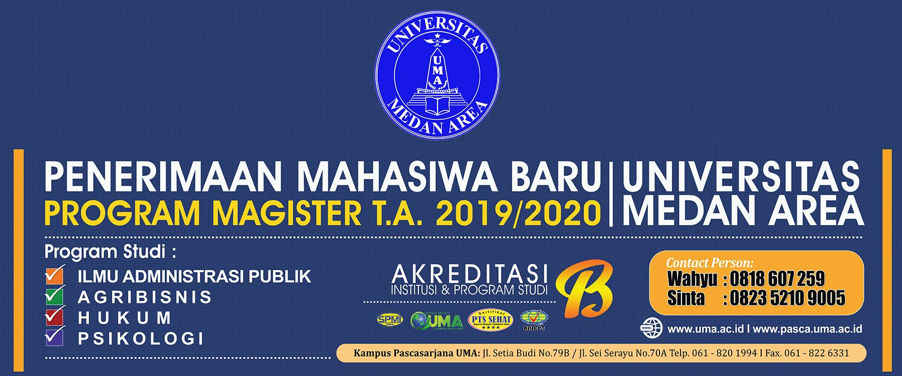 Pendaftaran Mahasiswa Baru Tahun Ajaran 2019/2020