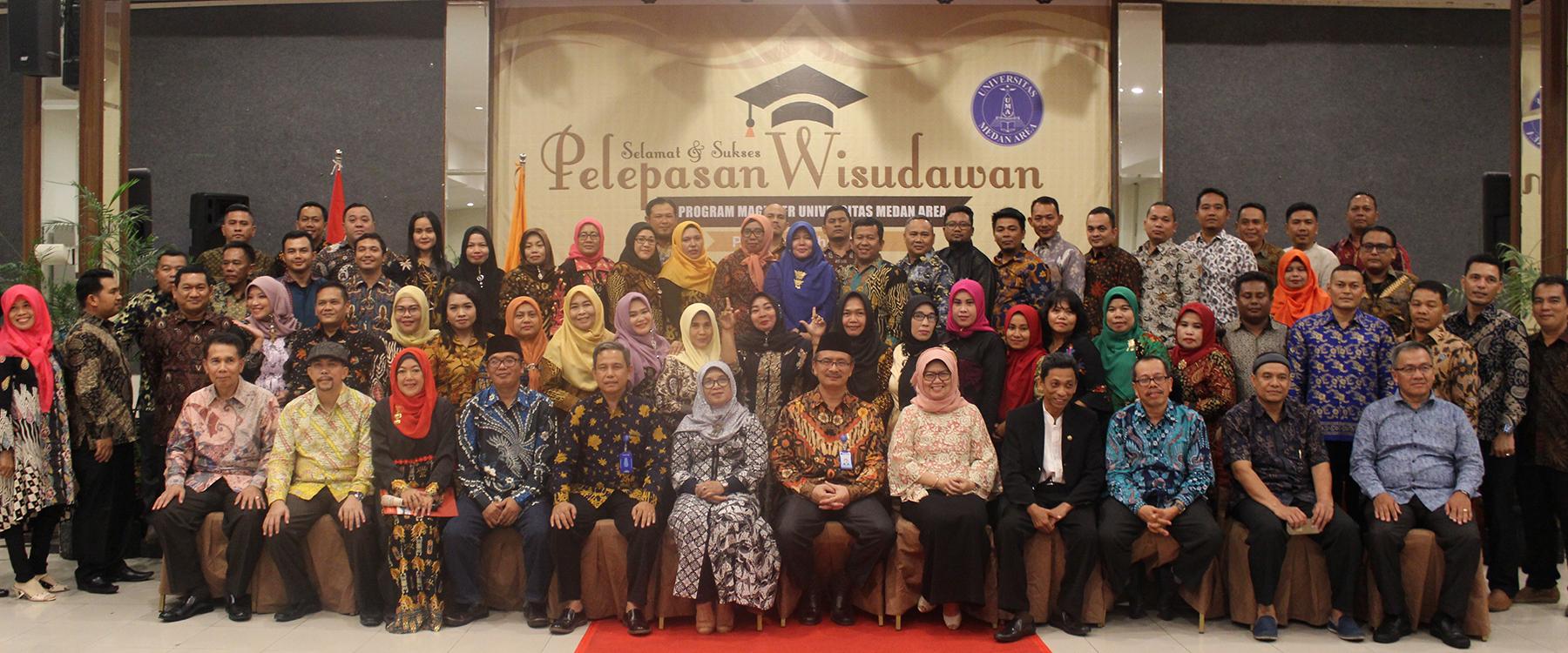 Pelepasan Wisudawan Program Magister Universitas Medan Area Periode I Tahun 2019